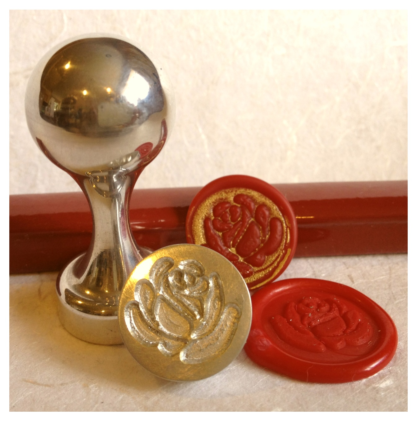 LetterSeals.com Rose Wax Seal Stamp