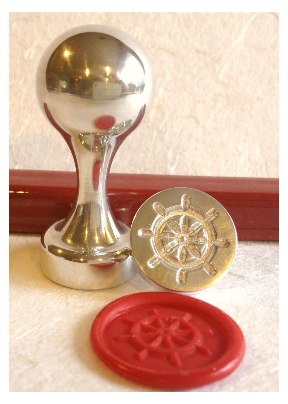 Captain Wheel wax seal