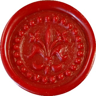 bright red glue gun sealing wax