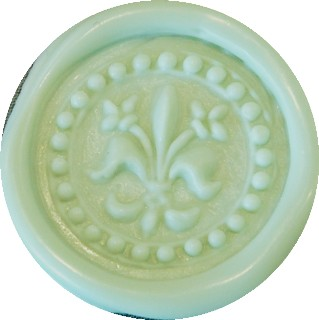 green pastel glue gun sealing wax