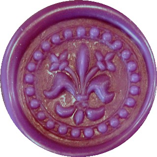 lavender glue gun sealing wax