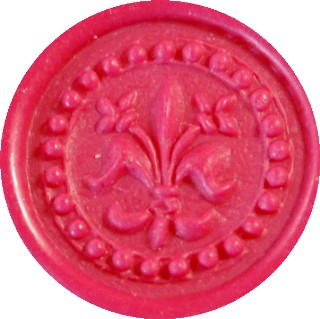 magenta glue gun sealing wax