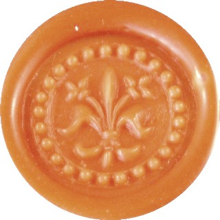orange cream glue gun sealing wax