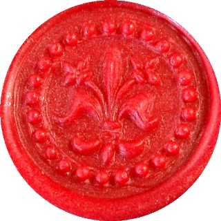 red metallic pearl glue gun sealing wax