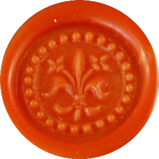 tangerine glue gun sealing wax
