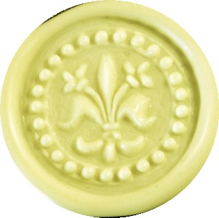 yellow pastel glue gun sealing wax
