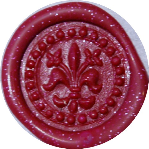 cranberry metallic glue gun sealing wax