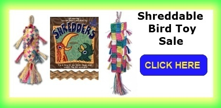 Shreddable Bird Toys Sale at FunTime Birdy