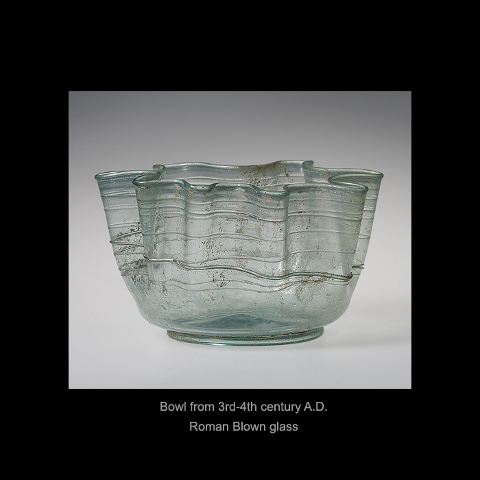 Bowl from 3rd-4th century A.D / Roman Blown Glass