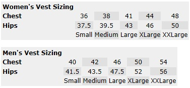 Gerbing Soft Shell Vest Size Chart