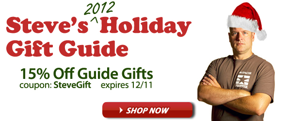 Steve's Holiday Gift Guide - Combat Tested Santa Approved. Save 15% with Coupon Code SteveGift