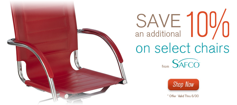 Computer Chairs - Save 10% on select computer chairs from Safco