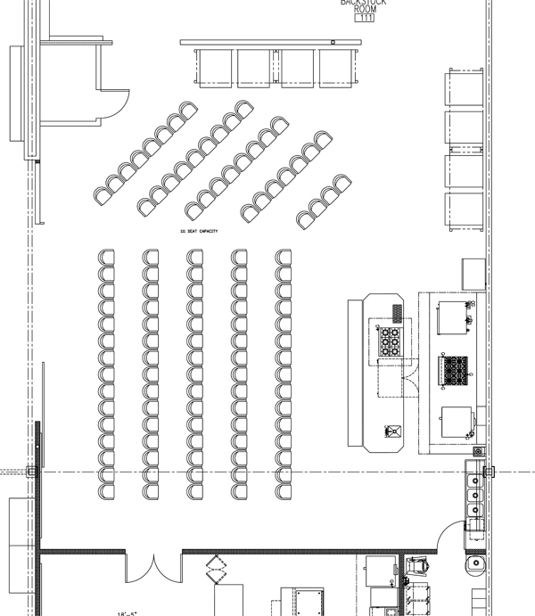 Costa Mesa Test Kitchen Layout