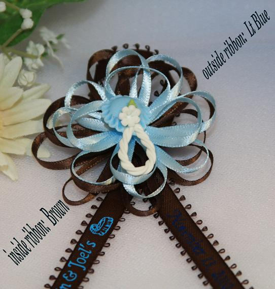 the satin ribbon center will be the same color as the printed ribbon