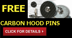 Free Carbon Hood Pins