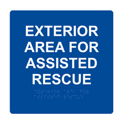 7086 Area For Assisted Rescue Exterior Wall Sign
