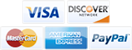 We accept Visa, Discover, Mastercard, American Express, and PayPal