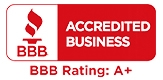 We are an Accredited Business with the Better Business Bureau