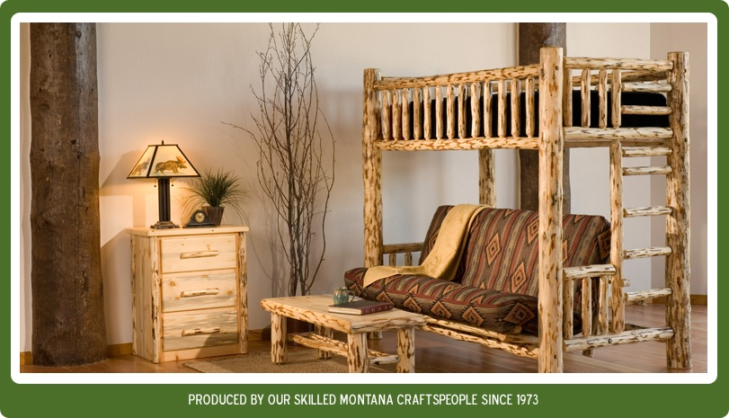 pine log furniture plans