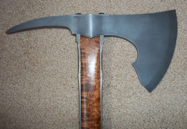 hand forged langet style tomahawk