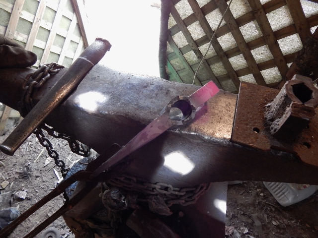 Photo of our hand forge process