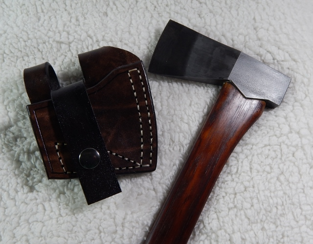 Hand made belt camp bag axe