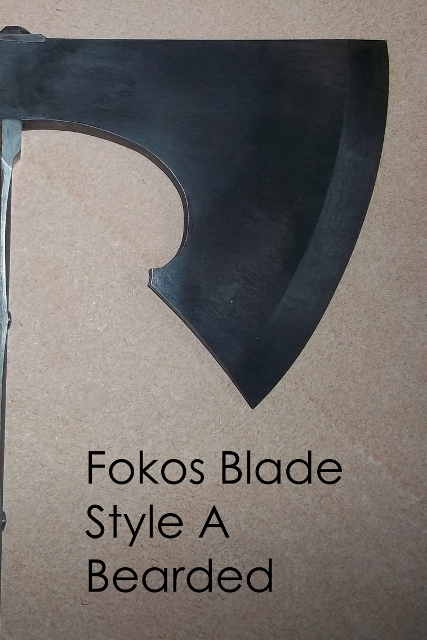 Hand forged fokos walking stick custom order blade options
