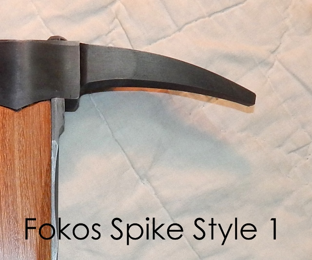 Hand forged fokos walking stick custom order hammer or spike options