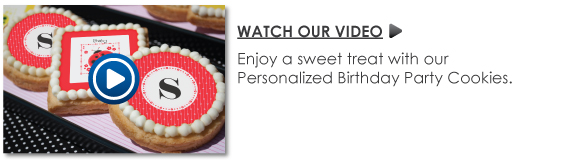 Personalized Birthday Party Cookies Video