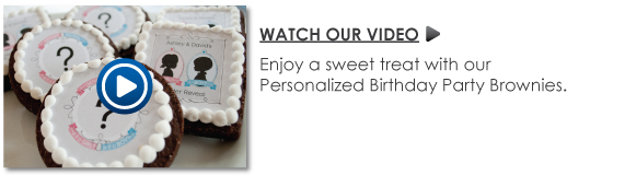 Personalized Birthday Party Brownies Video