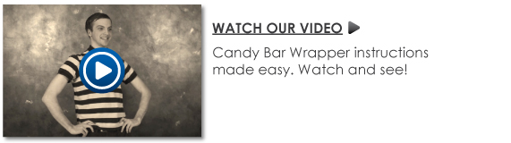 Personalized Birthday Party Candy Bar Wrappers Video