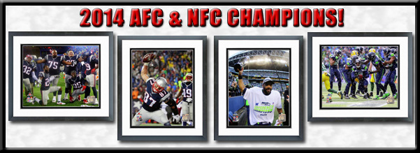 2014-15 AFC and NFC Champions Framed Pictures For Sale