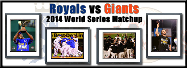 2014 Royals ALCS and SF Giants NLCS Framed Pictures For Sale