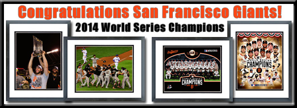 SF Giants 2014 World Series Champions Framed Pictures For Sale