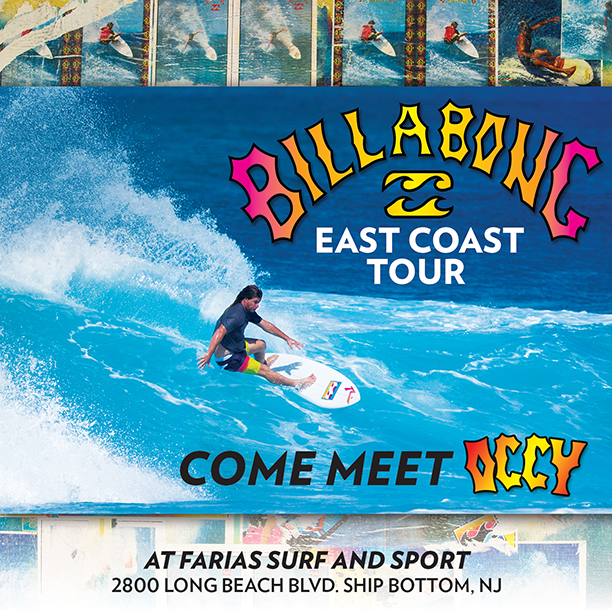Billabong East Coast Tour 2015 with Surf Legend Occy at Farias Surf and Sport, Ship Bottom, NJ
