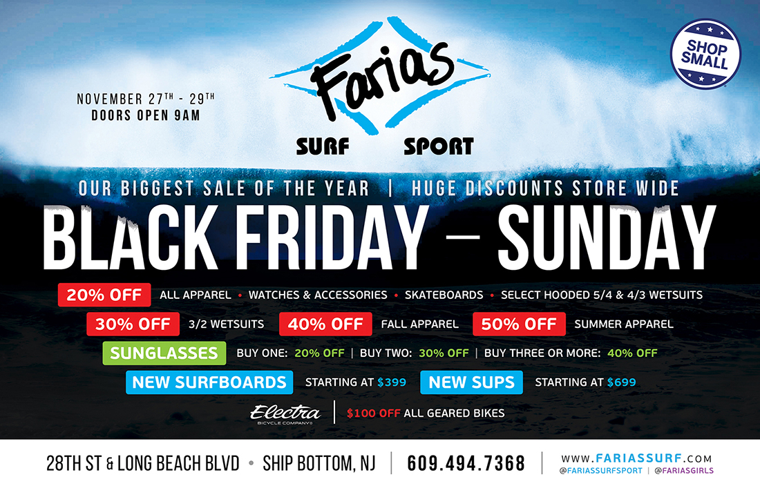 Farias Surf and Sport Black Friday Sale Long Beach Island, NJ