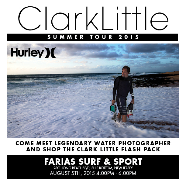 Clark Little Hurley Summer Tour 2015 at Farias Surf and Sport, Ship Bottom, NJ