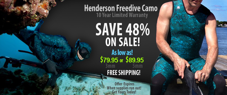 Camouflage Wetsuit Sale!
