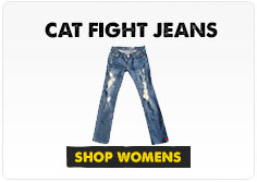 cat fight jeans graphic