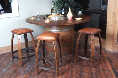 Oak Wine Barrel Furniture