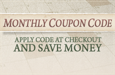 Save Money. Use Monthly Coupon Code for an Additional Discount on your Purchase