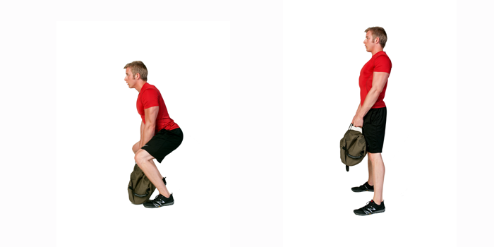 sandbag exercise - deadlift