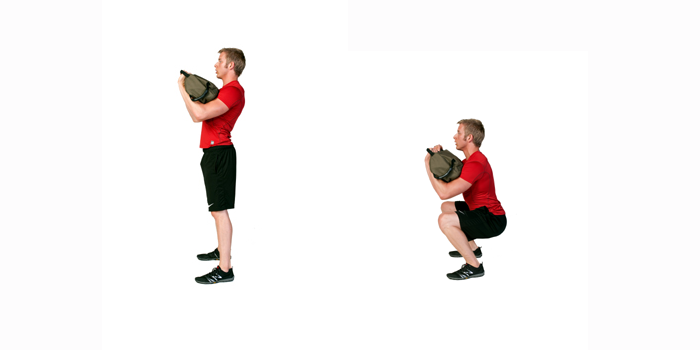 sandbag exercise - front squat