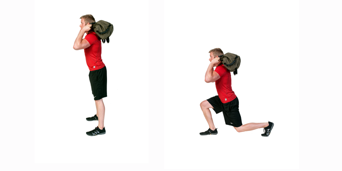 sandbag exercise lunge