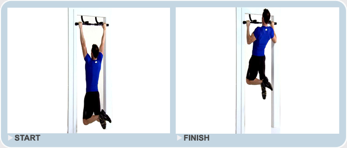 advanced exercise - wide grip pull ups