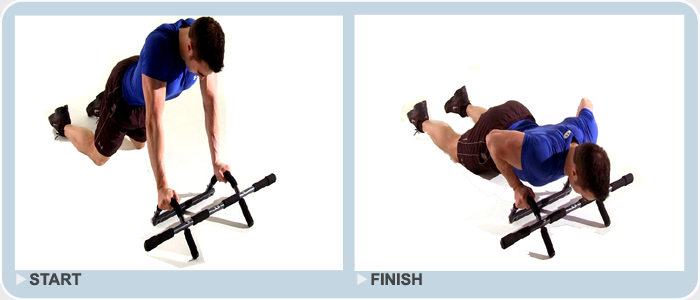 pull up bar dip station exercise - bent knee push ups