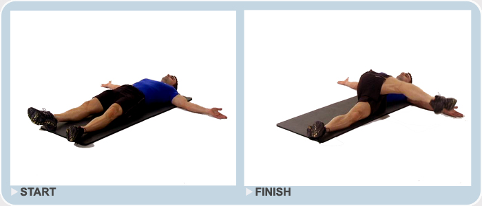 supine eagle bodyweight exercise