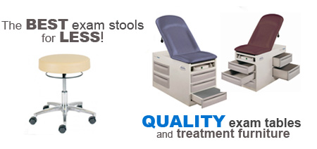 The Best Exam Stools for Less! Full Line of Quality Exam Tables and Treatment Furniture