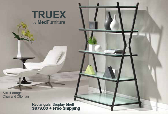 Truex Wide Rectangular Shelf by MedFurniture