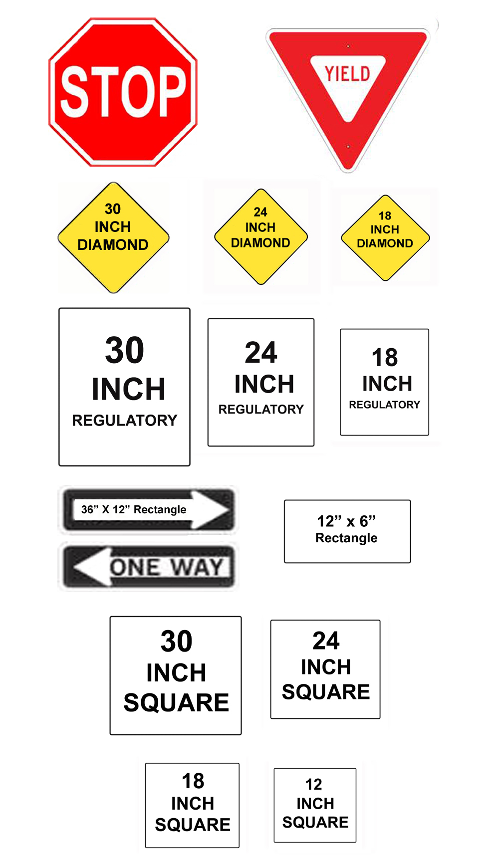 Imperial Faceplates for traffic signs